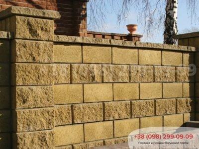 Колотый блок для забора (400Х200Х200)фото 5