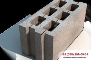 Строительные блоки Блок стандартный М75 (390Х190Х190)