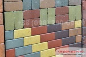 Тротуарная плитка Кирпич стандартный (200Х100Х40,60,80)