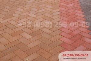 Тротуарная плитка Кирпич тротуарный без фаски (200Х100Х60)