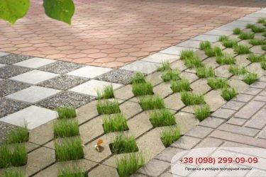 Тротуарная плитка парковочная решетка - 5