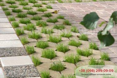 Тротуарная плитка парковочная решетка - 6