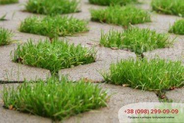 Тротуарная плитка парковочная решетка - 8