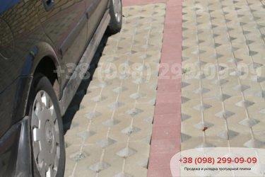 Тротуарная плитка парковочная решетка - 1
