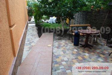 Тротуарная плитка на ул. Охотничья - 16