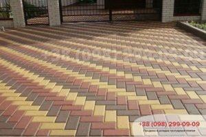 Тротуарная плитка Кирпич тротуарный 200Х100 мм