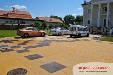 Наша работа по укладке тротуарной плитке в Киеве