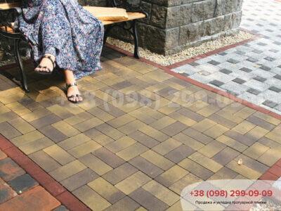Тротуарная плитка Кирпич без фаски Генуяфото 1