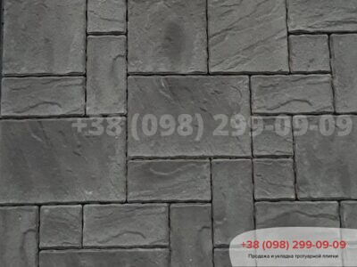 Тротуарная плитка Пассион Черныйфото 1