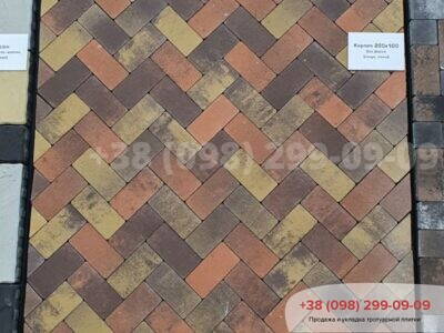 Тротуарная плитка Кирпич без фаски Генуяфото 2