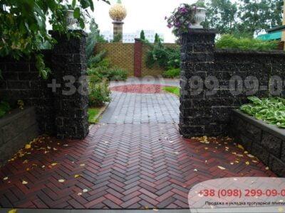 Тротуарная плитка Кирпич узкий Болоньяфото 3