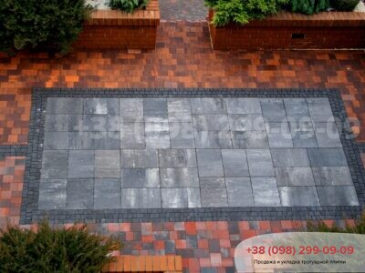 Тротуарная плитка Монолит Грейсфото 3