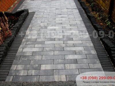 Тротуарная плитка Паркет Грейсфото 2