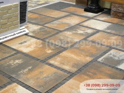 Тротуарная плитка Плита 900х450 Тосканафото 3