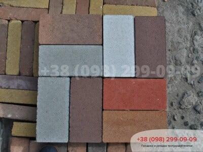 Тротуарная плитка Кирпич без фаски Белыйфото 2