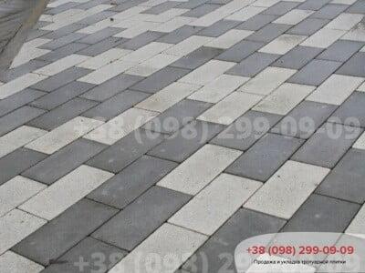 Тротуарная плитка Кирпич без фаски Белыйфото 5