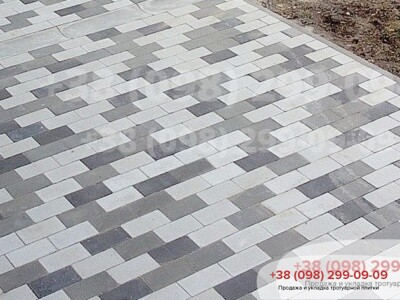 Тротуарная плитка Кирпич без фаски Белыйфото 6
