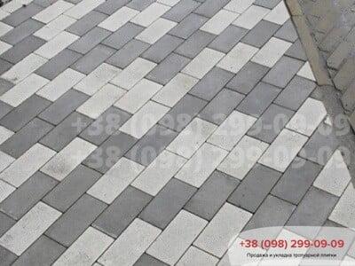 Тротуарная плитка Кирпич без фаски Белыйфото 7