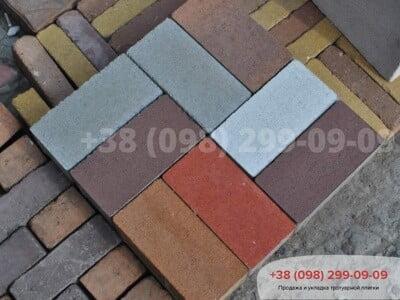 Тротуарная плитка Кирпич без фаски Белыйфото 8