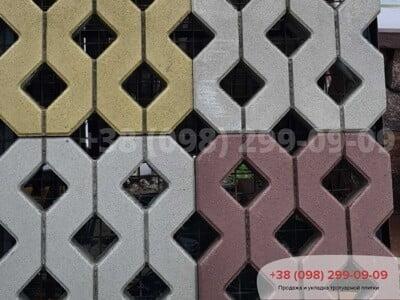 Тротуарная плитка Парковочная Решетка Горчичнаяфото 6