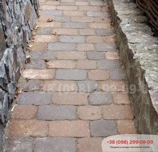 Тротуарная плитка Кирпич 240х160х90 Антик Коричневыйфото 1