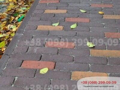 Тротуарная плитка Барселона Антик Бордовыйфото 3