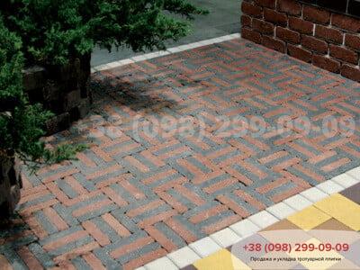 Тротуарная плитка Барселона Антик Чернаяфото 1