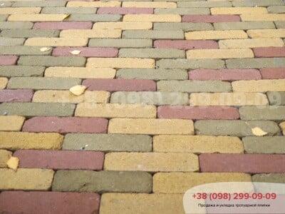 Тротуарная плитка Кирпич Барселона Антик Горчичнаяфото 3