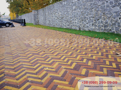 Тротуарная плитка Барселона Антик 60 Желтаяфото 15