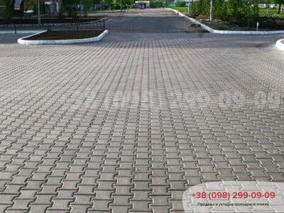 Тротуарная плитка Двойное Т Сераяфото 4