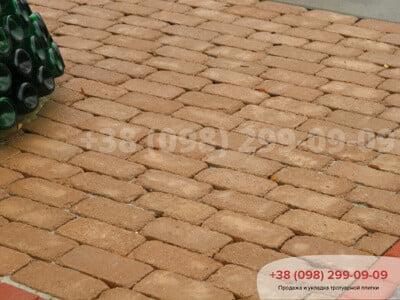 Тротуарная плитка Кирпич Антик 200х100 Персиковаяфото 8