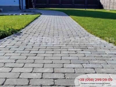 Тротуарная плитка Кирпич 200х100 Антик Серыйфото 2