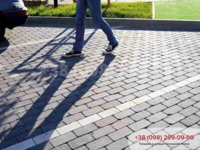 Тротуарная плитка Кирпич 200х100 Антик Серыйфото 3