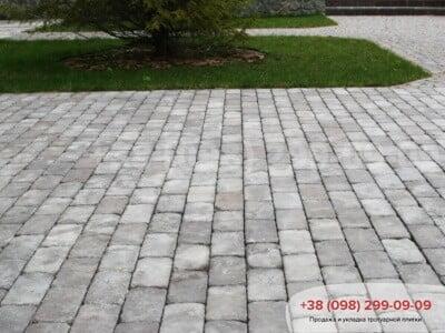 Тротуарная плитка Кирпич 200х100 Антик Серыйфото 7