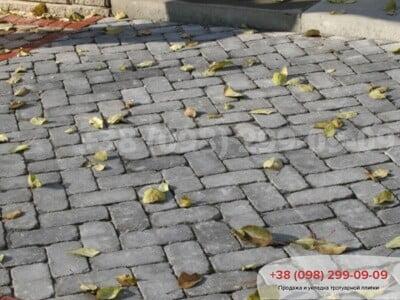 Тротуарная плитка Кирпич 200х100 Антик Серыйфото 5