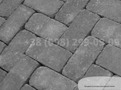 Тротуарная плитка Кирпич 200х100 Антик Серыйфото 6