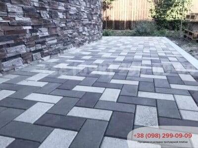 Тротуарная плитка Кирпич 200х100 Чернаяфото 10