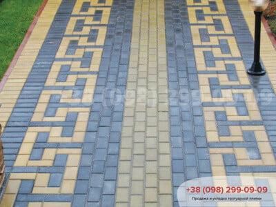 Тротуарная плитка Кирпич 200х100 Чернаяфото 3