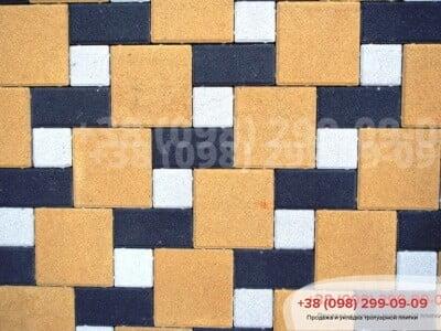 Тротуарная плитка Кирпич 200х100 Чернаяфото 12