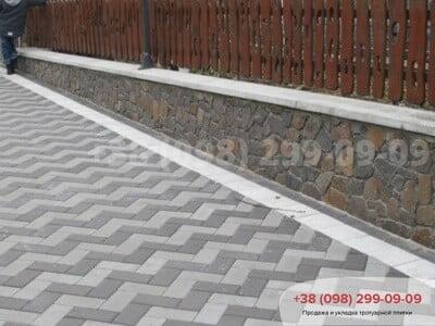Тротуарная плитка Кирпич 200х100 Чернаяфото 5