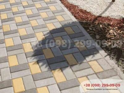 Тротуарная плитка Кирпич 200х100 Чернаяфото 13