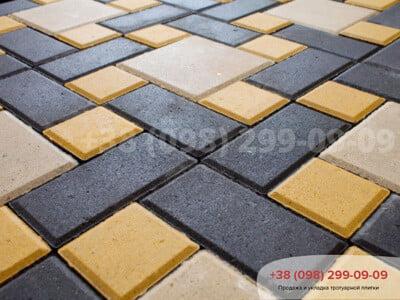 Тротуарная плитка Кирпич 200х100 Чернаяфото 1