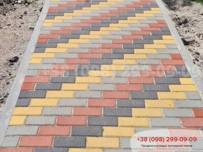Тротуарная плитка Кирпич 200х100 Чернаяфото 7