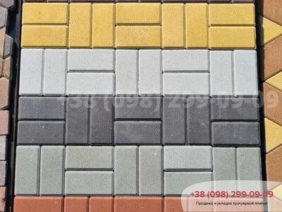 Тротуарная плитка Кирпич 200х100 Чернаяфото 8