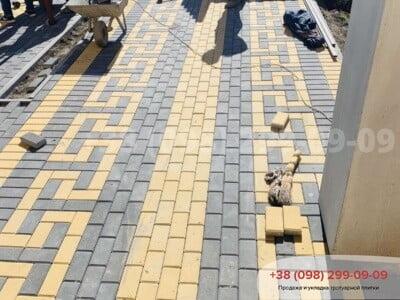 Тротуарная плитка Кирпич 200х100 Чернаяфото 9
