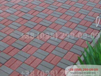 Тротуарная плитка Кирпич 200х100 Серыйфото 15