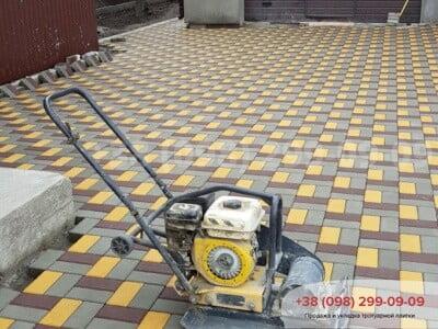 Тротуарная плитка Кирпич 200х100 Серыйфото 5
