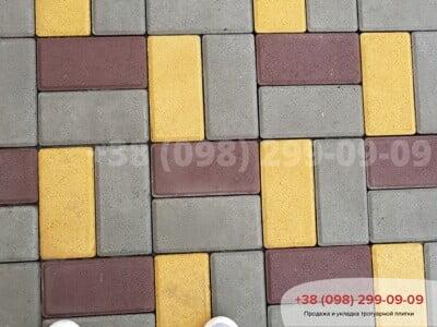 Тротуарная плитка Кирпич 200х100 Сераяфото 8