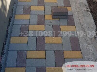 Тротуарная плитка Кирпич 200х100 Сераяфото 9