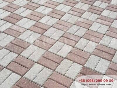 Тротуарная плитка Кирпич 200х100 Сераяфото 17